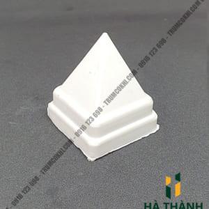 Chụp hàng rào nhựa trắng vuông 25x25